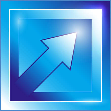 Blue arrow icon Vector