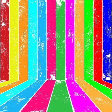 Colour planks interior