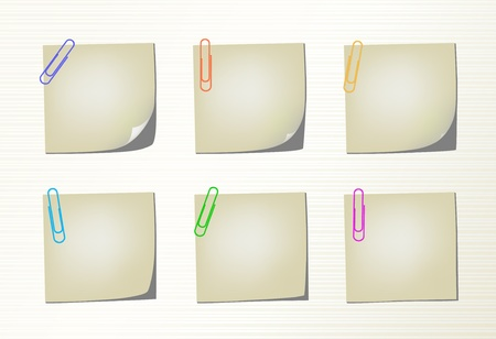 Set vector notepad pages and clips Stock Vector - 12815976