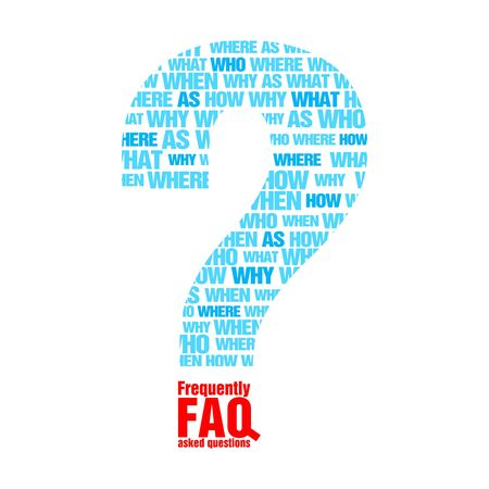FAQ metaphor Vector