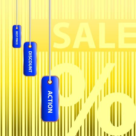 Big sale  Golden percent Vector