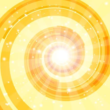 orange swirl: Abstract techno background