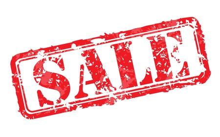 streaked: Sale rubber stamp Illustration