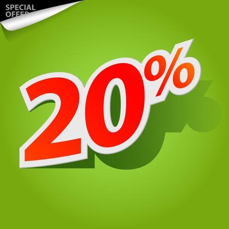 Vector label percent Vector