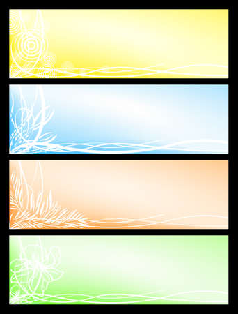 Set beautiful seasonal banners Vector