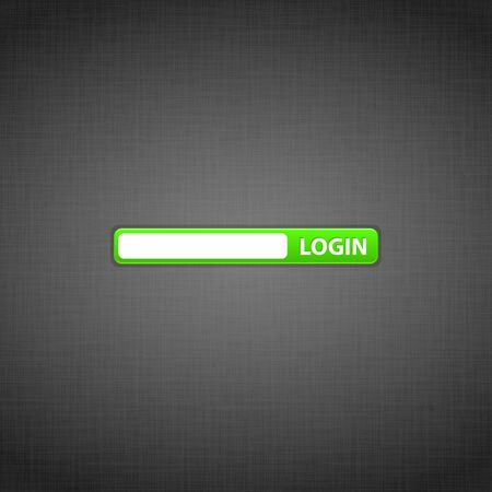 Login form on the website Vector