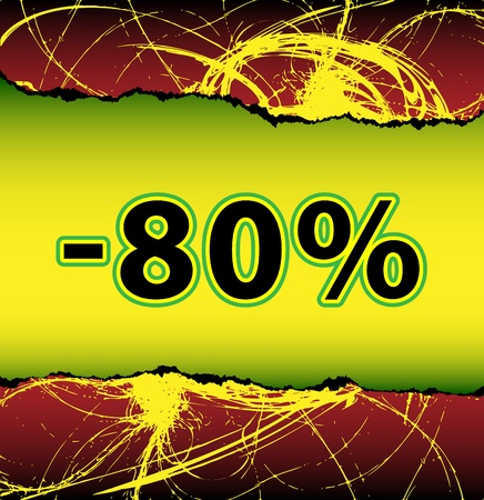 tatter: Discount eighty percent off Illustration