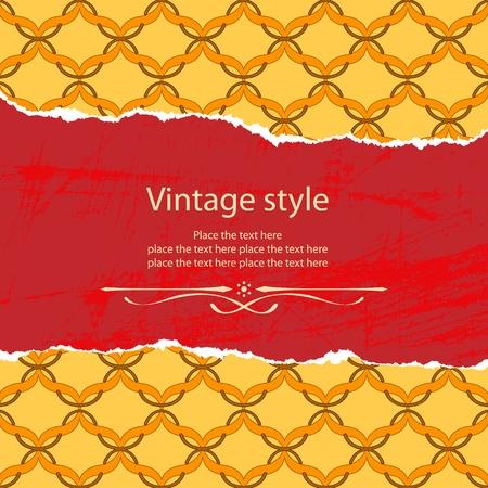 tatter: Vintage style template Illustration