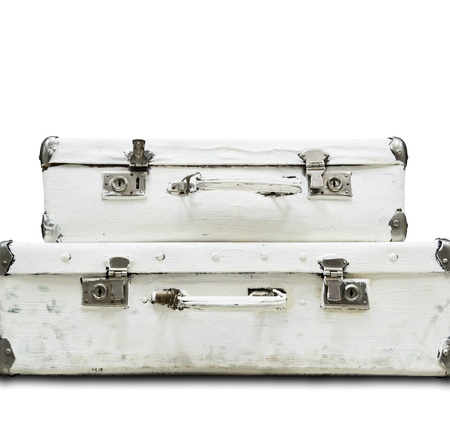 past: Two suitcase isolated