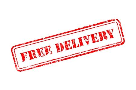 splashed: Free delivery rubber stamp Illustration