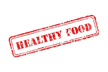 Gesunde Ernährung Stempel Illustration