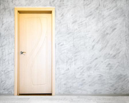 Door in grey room photo