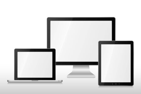 Group  computers Vector