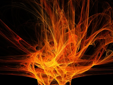 absract: Fiery absract background - fractal