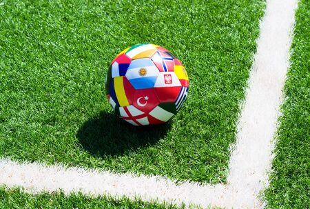 Soccer ball on field Stock Photo - 14538466