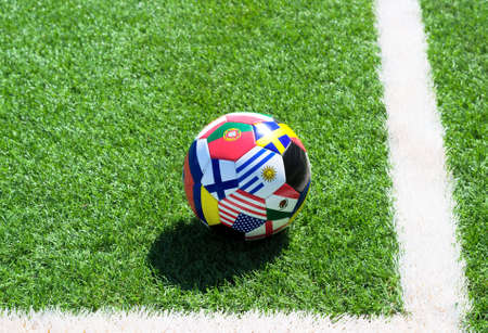 Soccer ball on field Stock Photo - 14580703