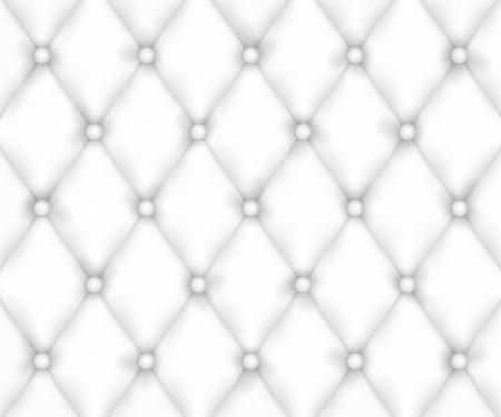 Weiß Lederpolsterung Hintergrund Illustration