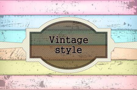 cardboard texture: Vintage background Illustration