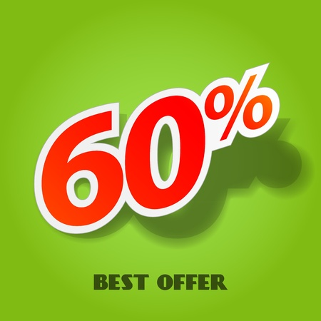 price reduction: Vector label percent