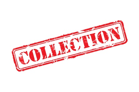 streaked: Collection rubber stamp Illustration