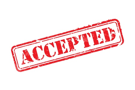 accepted: Accepted rubber stamp Illustration