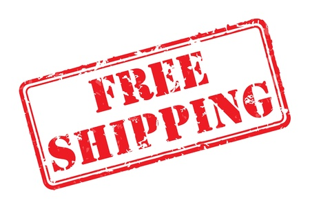 free illustration: Free shipping rubber stamp