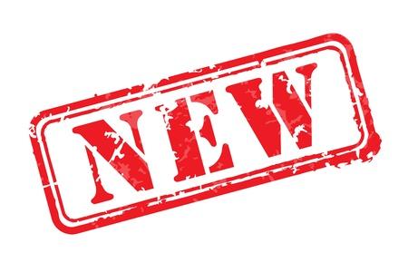 goma: Nuevo sello de goma Vectores