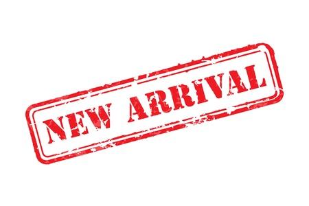 post stamp: Nuovo arrivo timbro di gomma Vettoriali