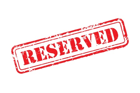 reserved: Reserved rubber stamp