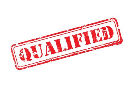 qualified: Qualified rubber stamp