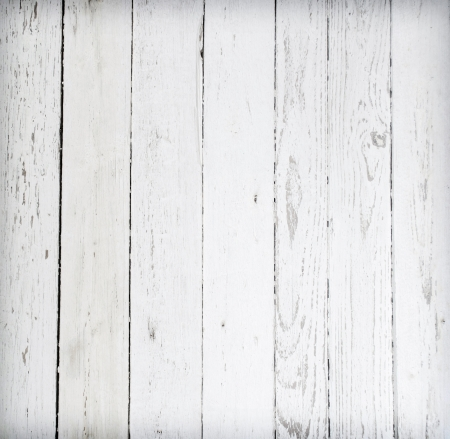 a white background: Black and white background of weathered painted wooden plank