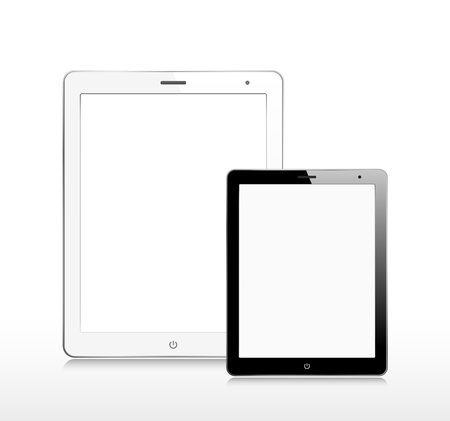 Two tablet computers Vector