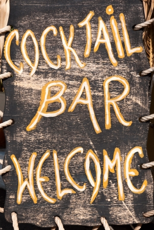 Cocktail bar welcome Stock Photo - 17281871