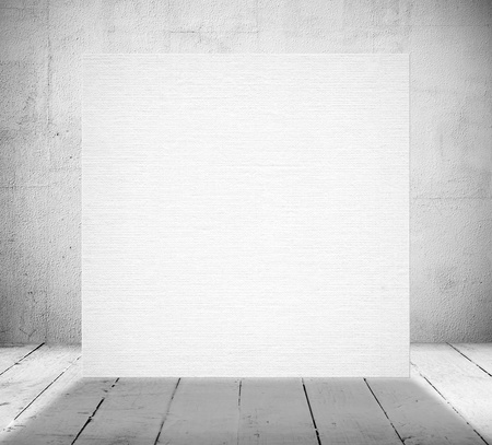 Blank banner in a old white room photo
