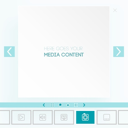 placement: Template for placement of media content Illustration