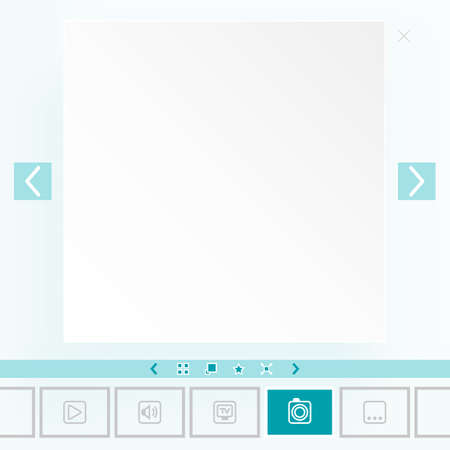 Template for placement of media content Vector