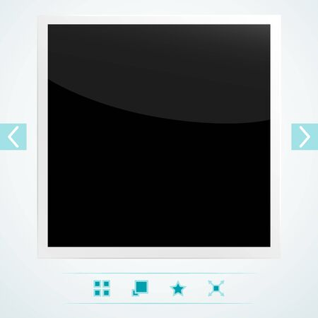 Template for placement of media content Stock Vector - 18640913