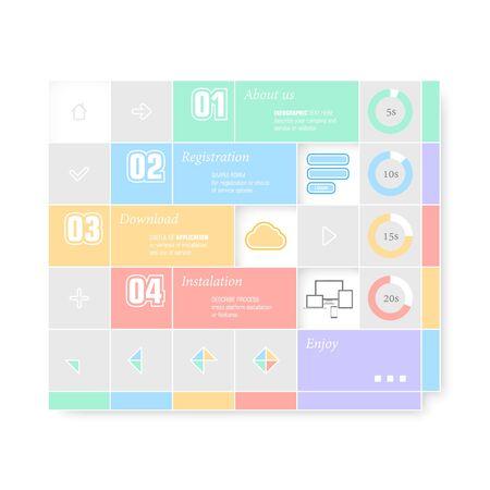 Trendy design infographic Vector