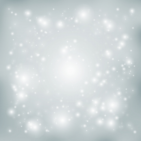 silver stars: Abstract vector background