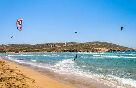kiteboarding: Kiteboarding at the beach
