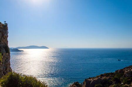 rhodes: Beautiful landscape. Paradise island of Mediterranean sea.