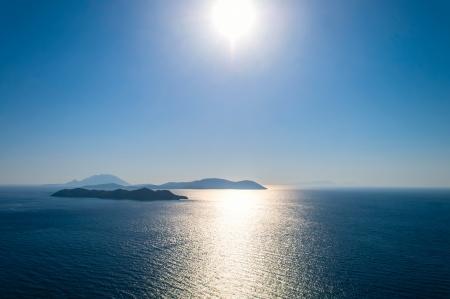 paisaje mediterraneo: Hermoso paisaje. Isla Para�so del mar Mediterr�neo. Foto de archivo