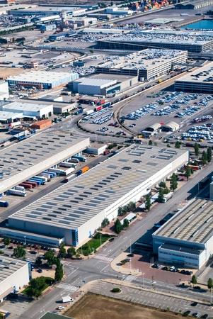 paesaggio industriale: Veduta aerea luogo di edifici industriali