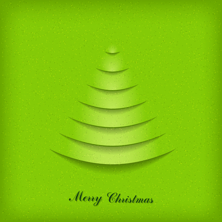 Christmas card from cutting paper. Stock Vector - 22271782