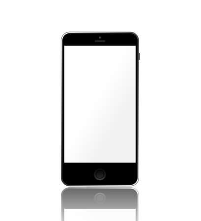 Black smartphone isolated on white background. Stock Vector - 22271985