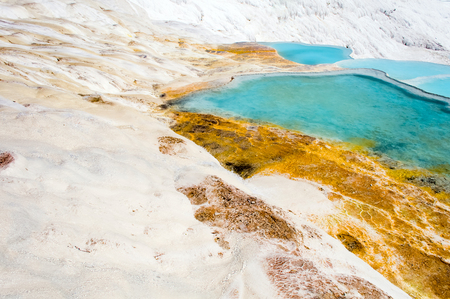 Primer Travertino Piscinas Y Terrazas Naturales Pamukkale Turquía