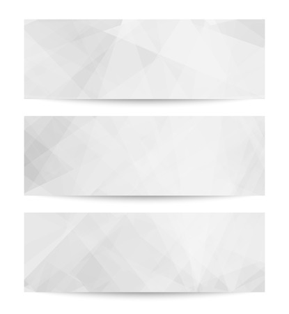 website header: Set Abstract backgrounds. EPS 10 vector illustration. Used opacity mask and transparency layers of background