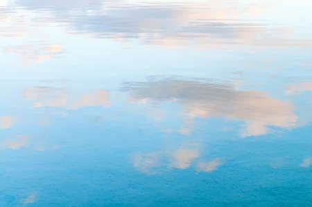 sky reflection: Beautiful clouds reflected in the water