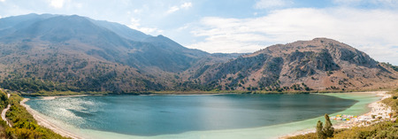 Greece, island of Crete, lake Kurnas, Panoramic view photo
