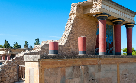 Greece Knossos Palace, ceremonial and political centre of Minoan civilization and culture photo